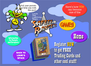 Free Safety Rangers binder, Trading card, CD, bookmark, zipper clip and more