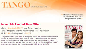 Free Subscription to Tango Magazine