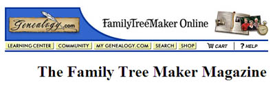 Free Subscription to Family Tree Maker Magazine