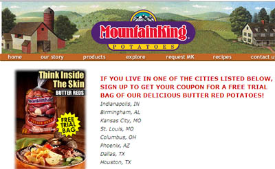 Coupon for Free Bag of MountainKing Butter Red Potatoes