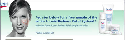 Free Eucerin redness relief system