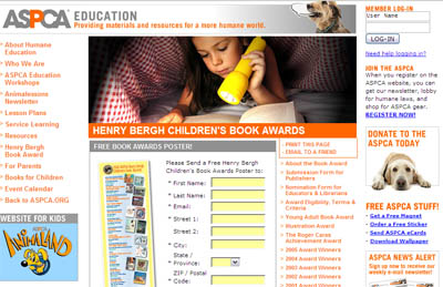 Free Henry Bergh Children's Book Awards Poster
