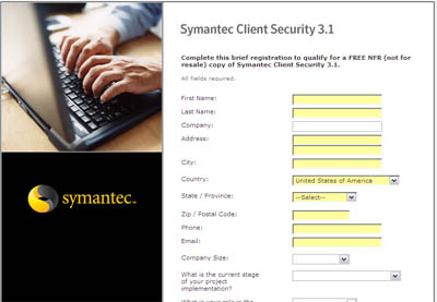 Free Symantec Client Security 3.1 Full Version CD