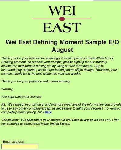 Free Wei East White Lotus Defining Moment Sample