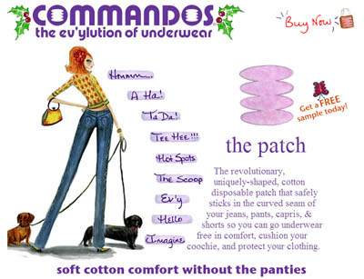 Free Commandos Patches Samples for Women