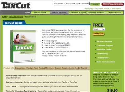 Free TaxCut Basic Download