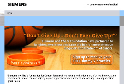 Free Jimmy V bracelet from Siemens
