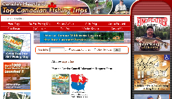 Free 2007 Canadian Fishing Map