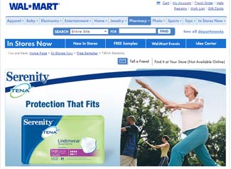 Free Serenity Samples from Walmart