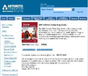 Free 2007 Arthritis Today Drug Guide