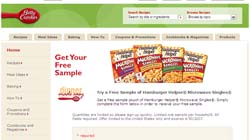Free hamburger helper singles sample