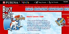 Free Busy Bone Purina Snack Lovers' Club