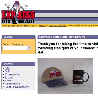 Free Express Bit & Blade Coffee Mug or Low Profile Hat