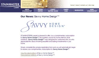 Free Subscription to Savvy Home Design from stainmaster carpet