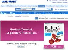 Free Kotex Ultra Thin with Comfort Flex Wings from Walmart