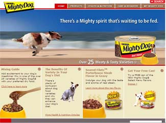 Free Can of NEW Mighty Dog Select Menu