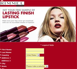 Free Rimmel Lipstick and Fragrance Samples