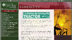 Free I'd Rather Be Driving My Tractor bumper sticker