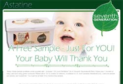 Free Seventh Generation® Baby Wipes