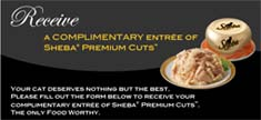 Free Sheba Premium Cuts Entree for Cats