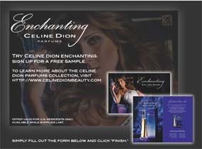 Free Enchanting Celine Dion Parfums Sample