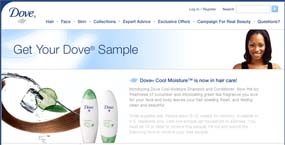 Free Dove Cool Moisture Shampoo and Conditioner