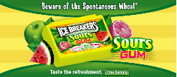 Free Ice breakers Sour Gum Sample