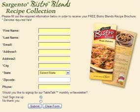 Free Bistro Blends Recipe Brochure