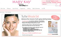 Free Miracle set samples from Mary Kay
