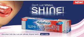 Free Aquafresh White & Shine Berry Fresh Toothpaste sample