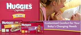 Free HUGGIES Supreme® Gentle Care and Natural Fit diapers