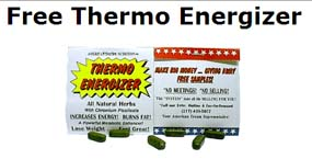 Free sample packet of Thermo Energizer