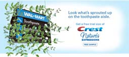 Free Crest Nature's Expressions Toothpaste
