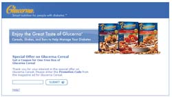 Free Coupon for Box of Glucerna Cereal