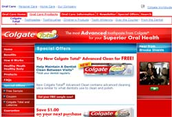 Free Colgate Total Advanced Clean Sample