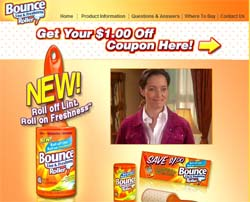$1 Off Bounce Lint & Freshness Roller Coupon