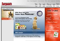 Free Sergeant's Gold Flea & Tick Squeeze On for Dogs