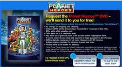 Free Planet Heroes DVD from Fisher Price