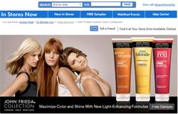 Free Sample John Frieda® hair care shampoo and conditioner collection