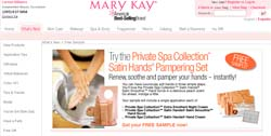 Free Mary Kay Private Spa Collection Satin Hands Pampering Set