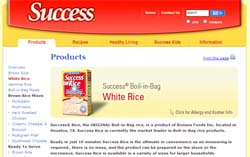 Free SUCCESS RICE receipe booklet