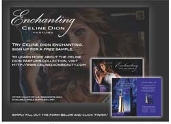 Free Sample of Celine Dion Parfums