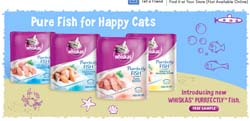 Free Whiskas Purrrfectly Fish cat food sample