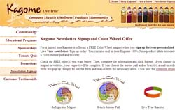 Free Kagome Nature's Color Wheel magnet