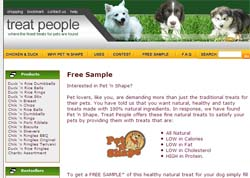 Free Pet 'n Shape Dog Treat Sample