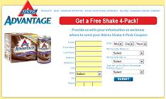 Free Atkins Shake 4-Pack Coupon