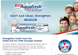 Free Aquafresh Advanced Toothpaste sample