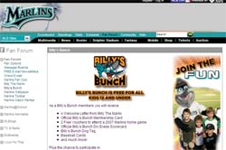 Free Florida Marlins Billy's Bunch Membership package