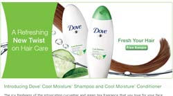 Free Dove Cool Moisture Shampoo And Conditioner Sample