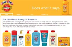 Free sample of Gold Bond® Powder